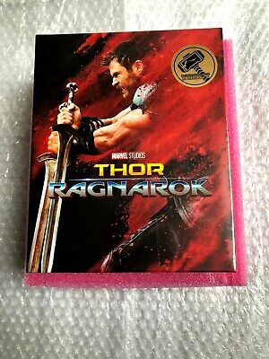 Thor: Ragnarok 3D+2D Blu-ray SteelBook Blufans One click *Brand New Sealed*read