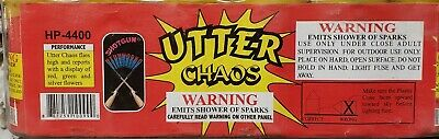 6 Utter Chaos cut off collectable Firework label (stickless rocket)