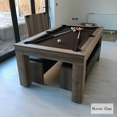 Groovy Rustic Oak Milano 6 8 Seater Dining Pool Table Make The Gmtry Best Dining Table And Chair Ideas Images Gmtryco