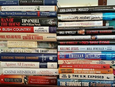 25 CONSERVATIVE POLITICS BOOKS: Variety/Authors/Viewpoints Build a Library
