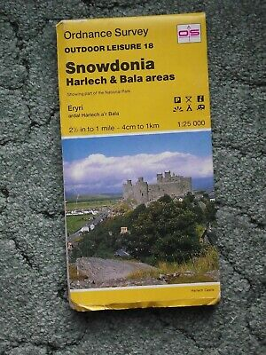 Ordnance Survey, Map no OL18 Snowdonia, Harlech and Bala area