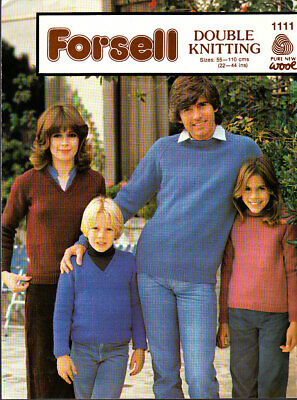 Forsell, Knitting Pattern, Family Sweaters, 22-44in, 1111