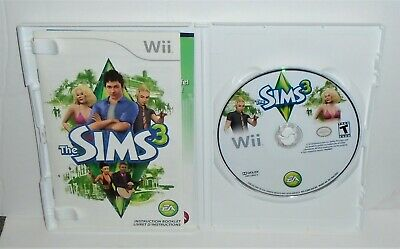 THE SIMS 3 (Nintendo Wii, 2010) - Complete with Manual and inserts
