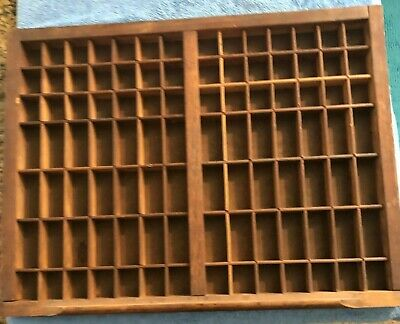 Wooden Type Smaller Rectangular Drawer Printers Tray Ready to Hang, Shadow Box