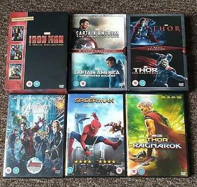 Marvel MCU DVDs - Collection - Iron Man, Captain America, Thor, Avengers,...
