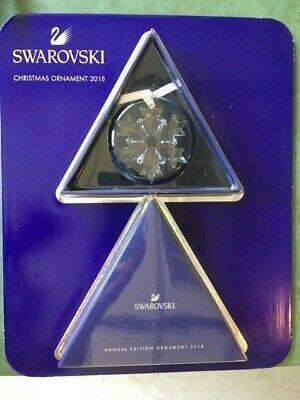 Swarovski Annual Edition Christmas Ornament 2018 Snowflake New in Package