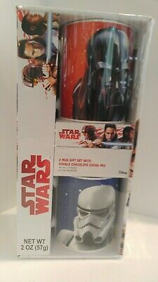 NEW Disney STAR WARS 2 Mug Gift Set DISNEY Darth Vader & Storm Trooper Free S&H