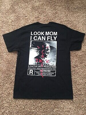 Travis Scott Look Mom I Can Fly CUSTOM T-shirt Large