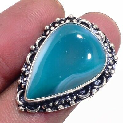 Botswana Agate 925 Sterling Silver Jewelry Ring Size-8 2700