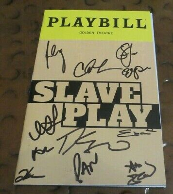 Slave Play Hit  Broadway Play Playbill current cast signed autographed