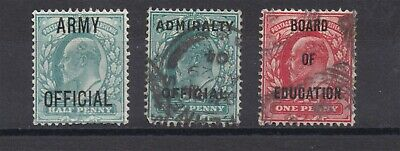 Lot:32251  GB EDVII  OFFICIALS  Army - Admiralty - board of Education