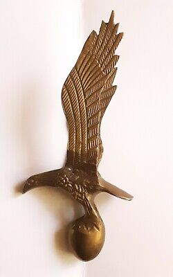 Antique or vintage  Brass Eagle Grandfather Clock Topper  Finial