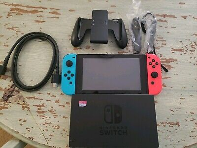 Nintendo Switch 32GB Gray Console with Red and  Blue Joy-Con Octopath Traveler