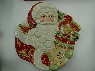 Nib Retired~ Fitz And Floyd Bountiful Holiday Canape Plate 2012