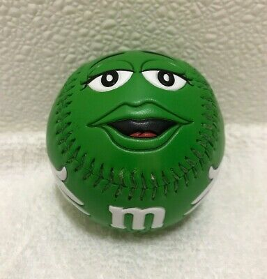 M&M Collectaballs Green Baseball M & M Candy 2007 Mars Collectible Fotoball Toy