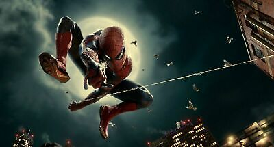 Spiderman Super Hero Avengers 3d Smashed View Wall Sticker Poster Bedroom Z472