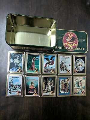 1996 Anheuser-Busch Embossed Metal Collector Advertising Card Set