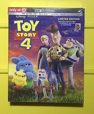Toy Story 4 4K Ultra HD Target Exclusive (4K+Bluray+Digital) Brand New