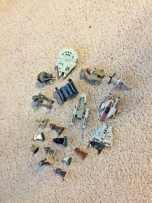 Disney's Star Wars Mini Figurines Set Of 20 Luke, Leia, Han & More! Rare!