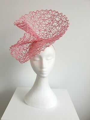 Miss Racey womens open weave headband fascinator in Candy Pink