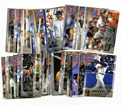 LOT OF 78 2019 Topps Update 150 Years Of Greatest Players cards Ruth Jeter +++