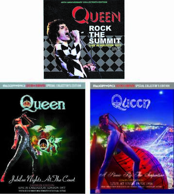 NEW QUEEN Collector's Edition 3 Title Set 4CD + 5DVD Bohemian Rhapsody ##Yu825