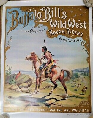 Buffalo Bill Cody Wild West Show & Rough Riders Poster - The Red Fox