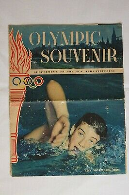 Olympic Games Collectable 1956 Melbourne Vintage The Sun Pictorial Supplement