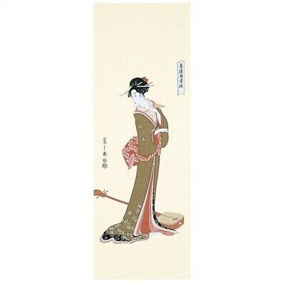 TENUGUI Japanese Cotton Fabric Hand Towel MADE IN JAPAN 100X35cm Ukiyoe Geisha
