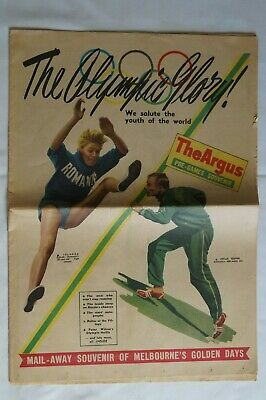 Olympic Games Collectable 1956 Melbourne Vintage The Argus The Olympic Glory
