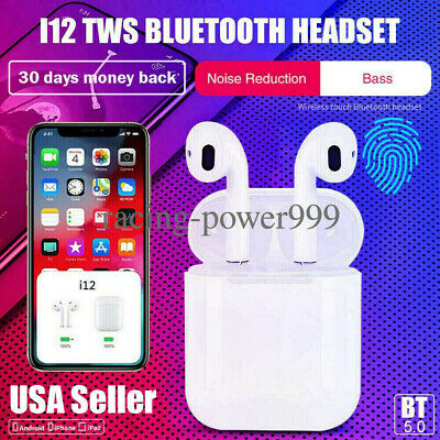 i11/i12 TWS Bluetooth Earphones Wireless Headphones Earbuds For iPhone Android