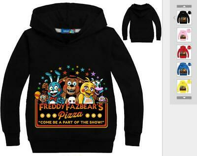 FNAF Five Nights at Freddys Kids Long Sleeved Sweater Hoodie Jacket Pullover New