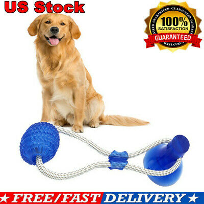 Dog Toy Floor Suction Cup Ball For Cat Pet Teeth Cleaning Chewing Playing CA