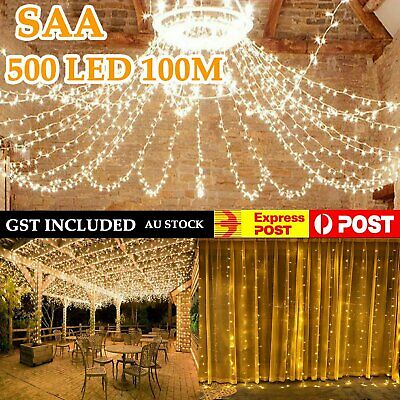 Cool White Warm White 500LED 100M Christmas Fairy String Lights Wedding Party AU