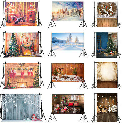 Chrismas Light Studio Backdrop Snow Street Tree Photography Background Xmas YJ