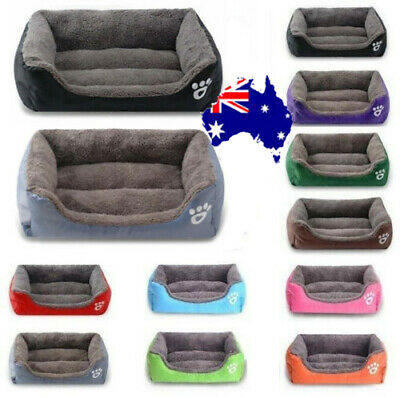 Pet Cat Dog Bed Puppy Cushion Soft Warm Kennel Mat Blanket Washable Mattress AU