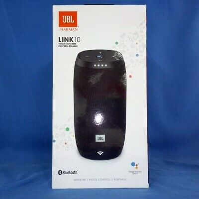 JBL Link 10 Black Portable Waterproof Speaker w/Google