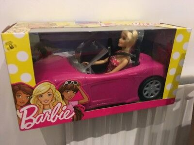 BARBIE DOLL AND VEHICLE - PINK CAR Lot 1