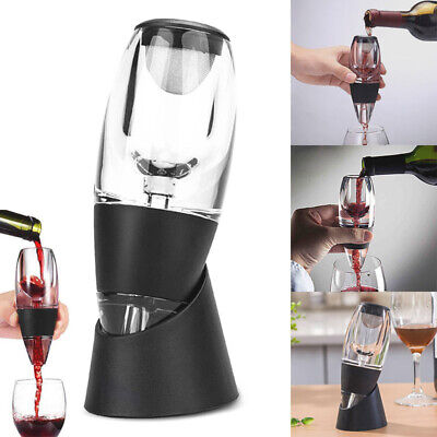 Red Wine Aerator Pourer Diffuser Decanter Spout with Base Wine Gadget Tool