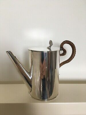 James Dixon and Sons Arts and Crafts Plated Water Jug with Cane Handle