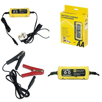 Aa Branded 12V 1.5A Car 6V Van Bike Intelligent Smart Battery Charger Maintainer