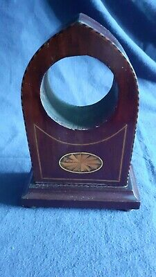 Antique Regency Style Wooden Inlaid Clock Case