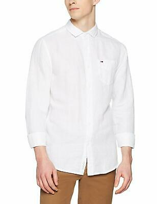 Tommy Hilfiger Tjm Contoured Corp Sleeve Tee Camicia, Bianco (Classic White 100), Large Uomo
