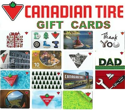 Collectible CANADIAN TIRE 🔧🛠️ CanTire gift cards Canada store