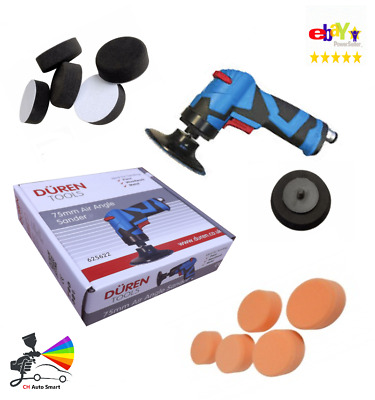 Air Operated 75mm Angle Sander / Polisher Interface & Mop Pads Kit SMART Repair