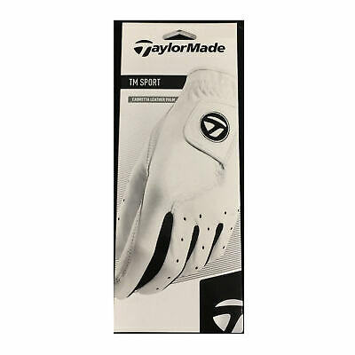 TaylorMade TM Sport Cabretta Leather Palm White Golf Glove - Pick Size