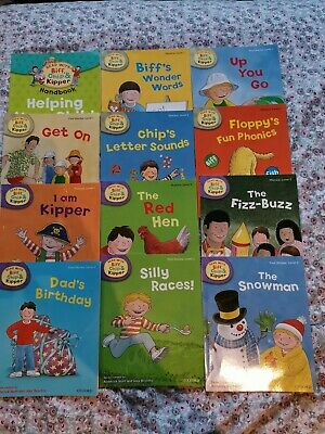 Set of 12 Oxford reading tree books, Biff, Chip and Kipper levels 1&2!