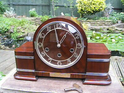 Rare 1930s Art Deco Westminster Chime Mantle clock , Stunning Example.