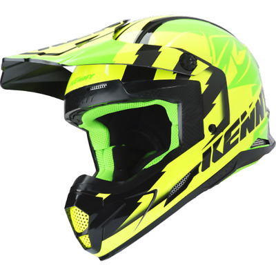 Casque Kenny Green Neon Yellow taille L track/jet-ski