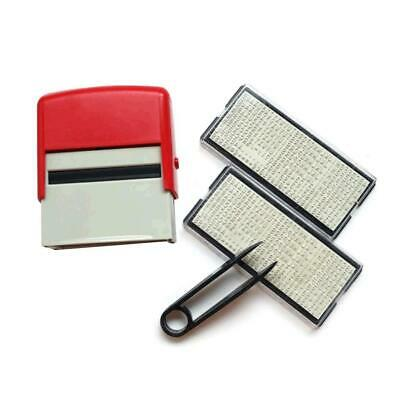 Personalised Plastic Self Inking Rubber Stamp Business Name Craft Tool Addr H5J6